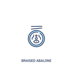Braised abalone concept 2 colored icon simple vector