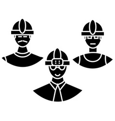 builders team icon sign o vector image