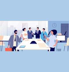 business agreement business people shaking hands vector image