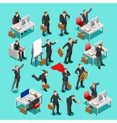 Business Set Isometric People vector image