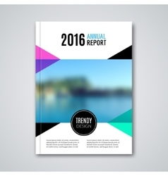 Business template for brochure flyer report or vector