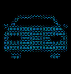 car composition icon of halftone spheres vector image