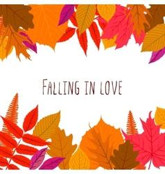 Card with autumn decor vector