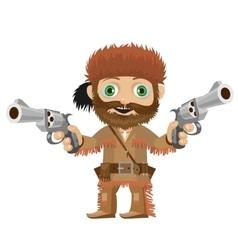 Cartoon character cool merry huntsman vector