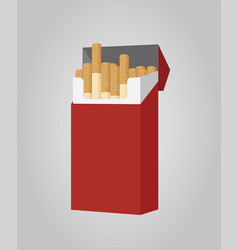 Cartoon pack cigarettes smoking product vector
