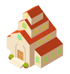 Catholic church icon isometric style vector