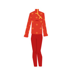 chinese festive female costume for holiday vector image