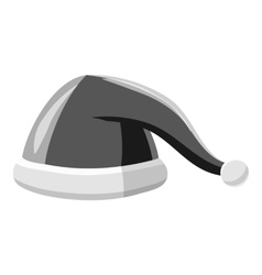 Christmas hat icon gray monochrome style vector