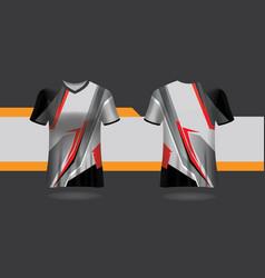 Club shirt design uniform front and back v vector