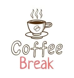 Coffee Break Vintage Logo vector image
