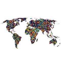 Colored network World map vector