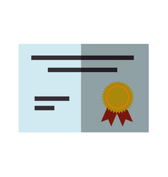 Diploma education certification vector