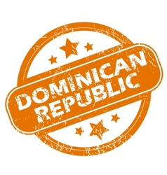 Dominican Republic grunge icon vector