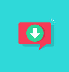 download icon in bubble push notification vector image