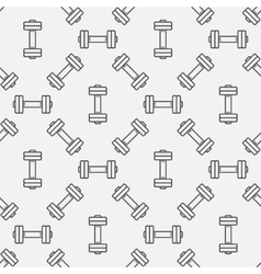 Dumbbell seamless pattern vector image