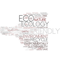eco-friendly word cloud concept vector image