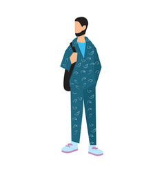 elegant bearded man in sport suit vector image