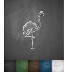 Flamingo icon Hand drawn vector