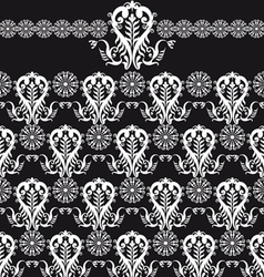 Floral on black vector