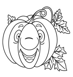 fresh pumpkin cartoon vector image
