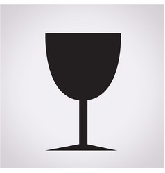 glass drink icon vector image