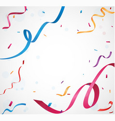 greeting card design with confetti vector image