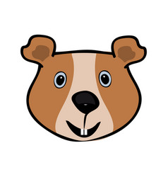 guinea pig funny cute head pets vector image