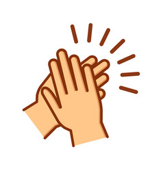 hands clapping icon applause gesture vector image