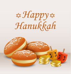 Happy hanukkah holiday concept background vector