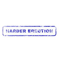 Harder erection rubber stamp vector