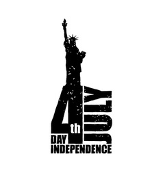 Independence Day in America Statue of Liberty in vector image