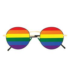 lgbt sunglasses icon vector image