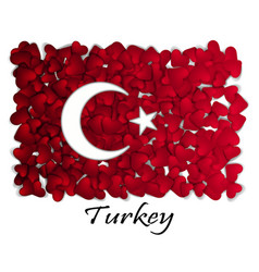love turkey flag heart glossy with love from vector image