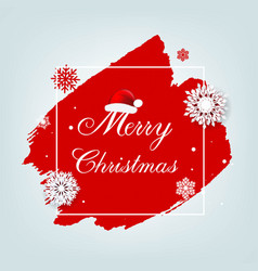 merry christmas poster with blobs isolated grey vector image