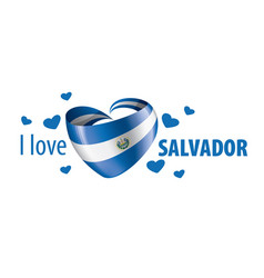 national flag salvador in shape a vector image