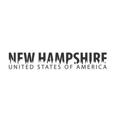 new hampshire usa united states of america text vector image vector image