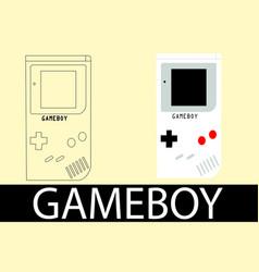 nintendo gameboy vector image