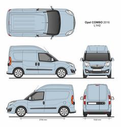 Opel combo 2016 l1h2 cargo delivery van vector