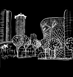 Orchard road in singapore vector