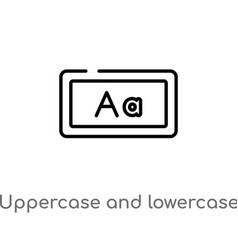 Outline uppercase and lowercase letter icon vector