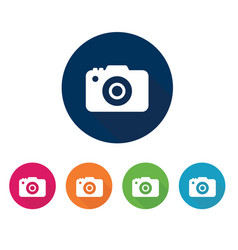 photo camera icon set for design vector image