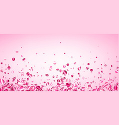 Pink background with glossy confetti vector