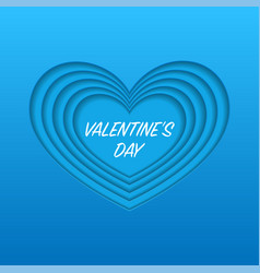 red cut paper heart background vector image