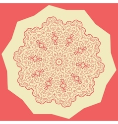 Red Mandala Print vector image