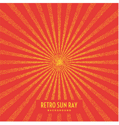 retro sun ray on background vector image
