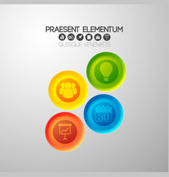 round infographic icons background vector image