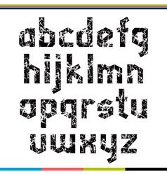 Sans serif decorative font lower case vector