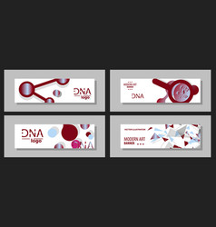 scientific brochure design template flyer layout vector image