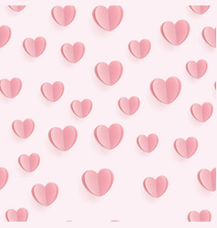 seamless heart pattern ideal for valentine day vector image