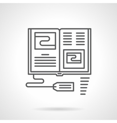 Selling books flat line icon vector image